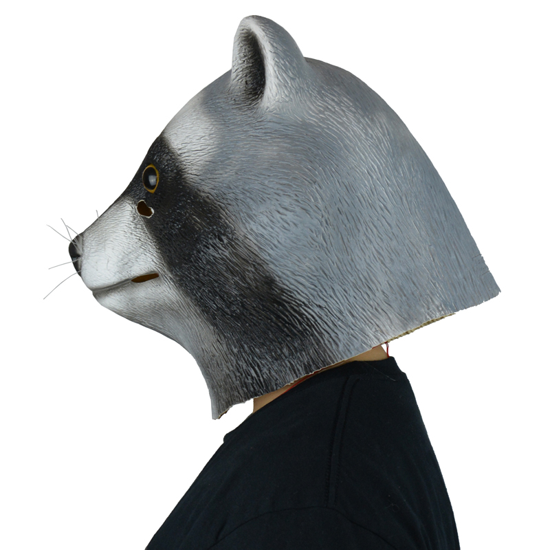 LarpGears Novelty Halloween Costume Party Latex Animal ... Raccoon Eye Mask