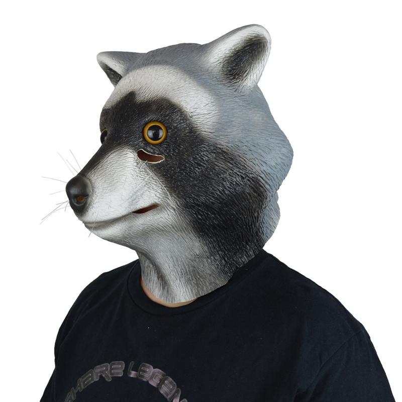 LarpGears Novelty Halloween Costume Party Latex Animal Head Mask Raccoon  Mask - GLM-A0053